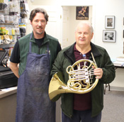 Horn Tech Jim Engele with Ed Shenk